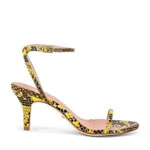 RAYE Bridge snakeskin heels